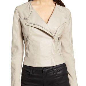 BLANKNYC Black Faux Leather Zipped Moto Jacket
